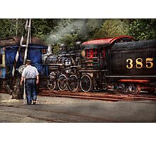 Train - Steam - The conductors job  Photographic Print