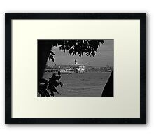 Waiting to sail. Framed Print