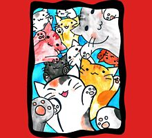 Manga cats conquer the world (with frame) Women's Fitted Scoop T-Shirt