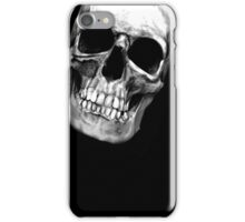 skull on black 2 iPhone Case/Skin
