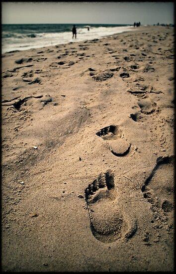 Footprints on Fire Island by Forrest Harrison Gerke