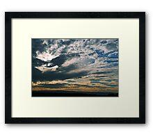 Dixon, California Sunset Framed Print