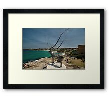 Wire Elk @ Sculptures By The Sea 2011 Framed Print
