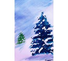 Merry Christmas!  Watercolor Photographic Print