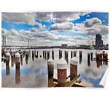 Docklands Harbour, Marine piles Poster
