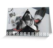 Witch House Bird Greeting Card