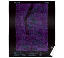 USGS Topo Map Washington State WA Louie Creek 242075 1989 24000 Inverted Poster