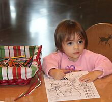 Coloring a picture for Santa..... by DonnaMoore