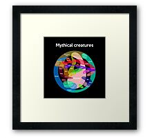 Epic Mythical Creatures Chart Framed Print