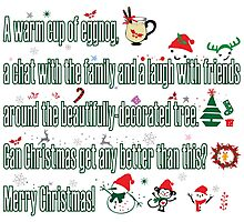 Christmas sayings Photographic Print