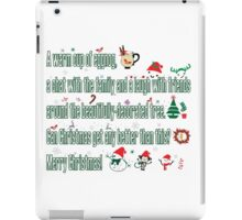 Christmas sayings iPad Case/Skin