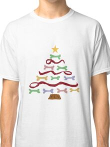 Funny Cool Dog Biscuit Christmas Tree Classic T-Shirt
