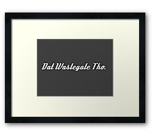 'Dat Wastegate Tho' - Tee Shirt / Sticker for JDM Car Culture - White Framed Print