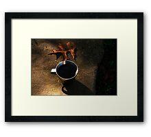 Autumn Coffee  Framed Print