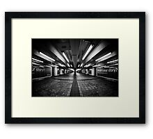 Life Between The Exit Signs Framed Print