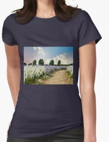 Coloured Landscape Womens Fitted T-Shirt