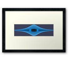Onion Eye - Horizontal Blue Framed Print