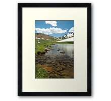Clear Cold Water Framed Print