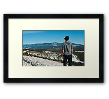 At the Top of a Pass in New Mexico Framed Print