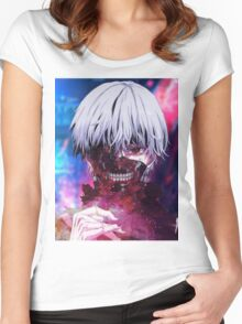 Tokyo Ghoul - Kaneki End Game Women's Fitted Scoop T-Shirt