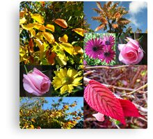 Autumn Collage with Roses Canvas Print