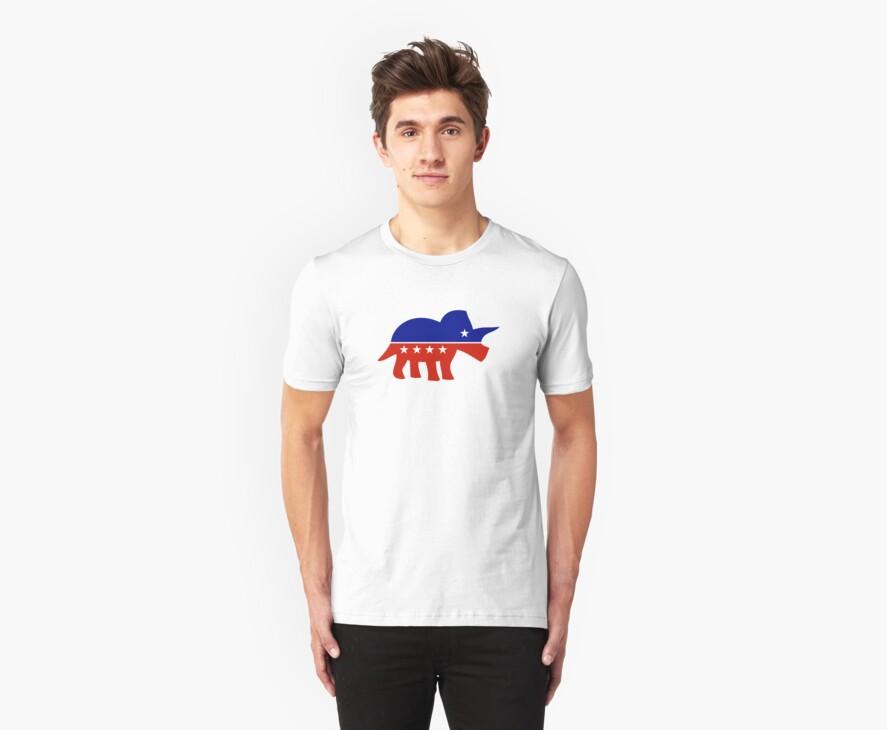Triceratops Political Logo by jezkemp