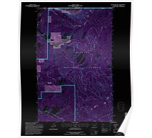 USGS Topo Map Washington State WA Boundary Mtn 240173 1992 24000 Inverted Poster