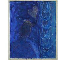 self portrait blue. Photographic Print