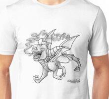 Black and White Spyro Unisex T-Shirt