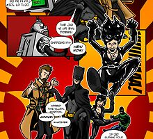 Page 4 of Good Game Batman Comic submission - Colourised! by Michael Lee