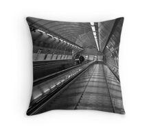 Subway Escalator Throw Pillow