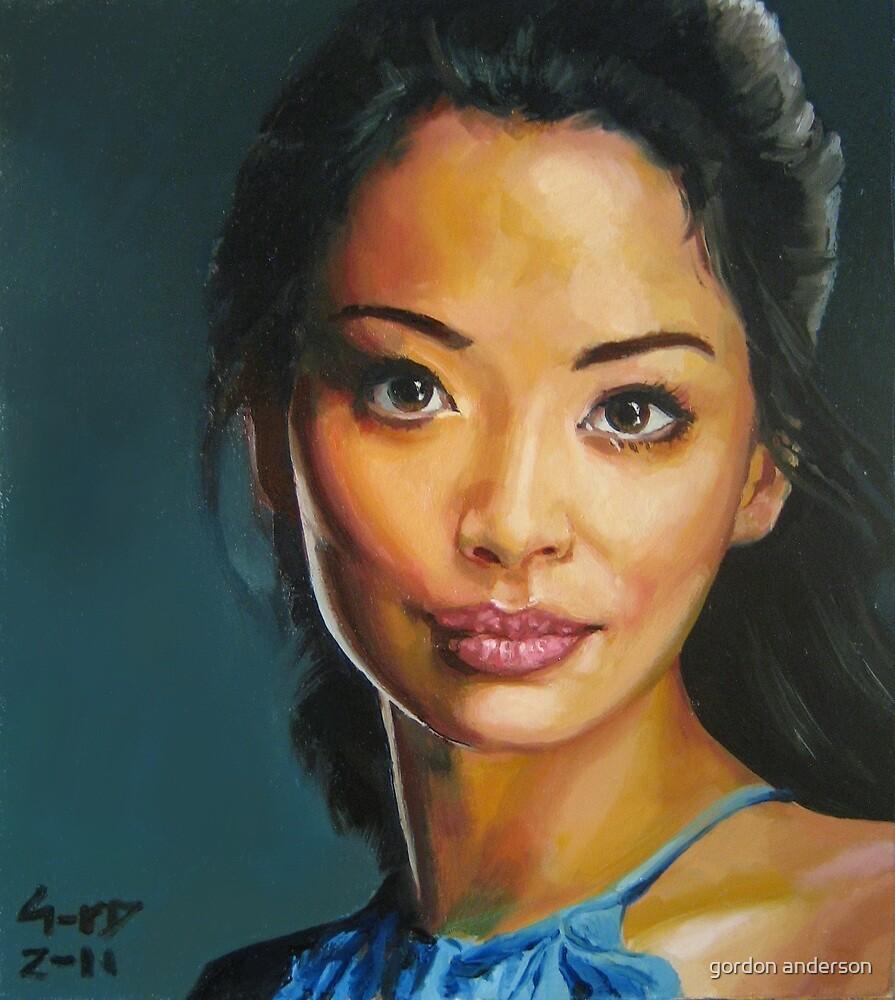 portrait piece - asian beauty Stephanie Jacobsen by gordon anderson