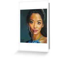 portrait piece - asian beauty Stephanie Jacobsen Greeting Card