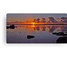 Sunrise on Tuggerah Lake. Canvas Print