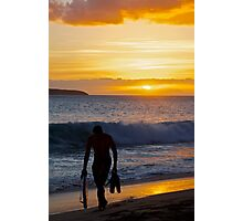 Back from the surf Photographic Print