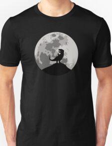 Dinosaur Moon Silhouette - T-Rex Unisex T-Shirt