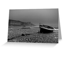 Boats In The Mist Greeting Card