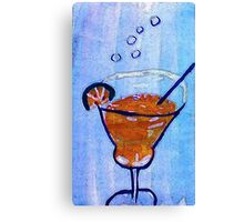 Happy Holidays ,,be safe and smart!  watercolor Canvas Print
