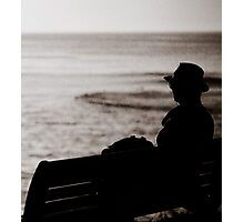 Watching sunrise at Cronulla II Photographic Print