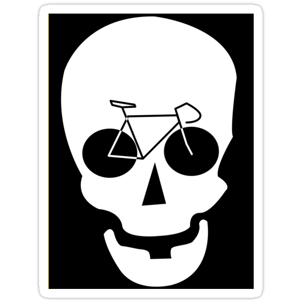 Bike Skull Sticker by MangaKid