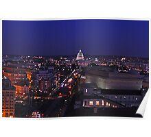 Washington, DC - a night view Poster