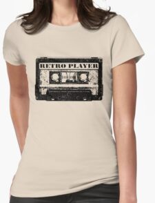 retro tape Womens Fitted T-Shirt