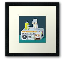 living in a box Framed Print
