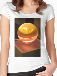 0192 Sphere Lamp Women's Fitted Scoop T-Shirt