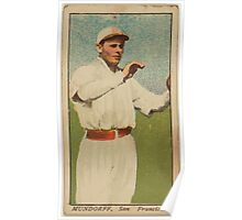 Benjamin K Edwards Collection Mundorff San Francisco Team baseball card portrait Poster
