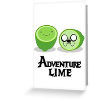 Adventure Lime Greeting Card