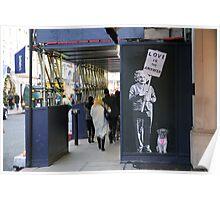 Einstein, street art, banksy, love is the answer  Poster