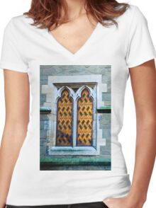 0438 Old Window Women's Fitted V-Neck T-Shirt
