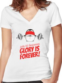 Pain Is Temporary, Glory Is Forever! v.1 Women's Fitted V-Neck T-Shirt