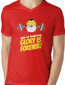 Pain Is Temporary, Glory Is Forever! v.2 Mens V-Neck T-Shirt